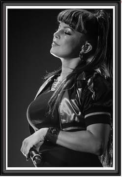 PHOTOGRAPHIE D'ART DE FERGIE DES BLACK EYES PEAS
